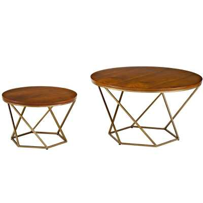 Dunavant Wood 2 Piece Coffee Table Set - Wayfair