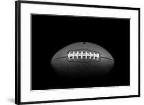 "Classic American Football - 36"" x 24"" - Chelsea Black -  3.5"" Crisp - Bright White Mat -  Acrylic: Clear - art.com"