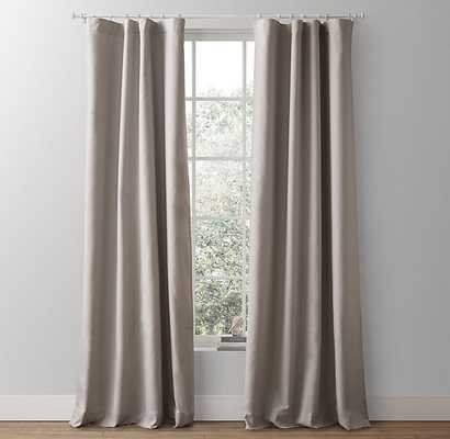 "Linen-cotton drapery panel - 96"" - Grey - RH Baby & Child"