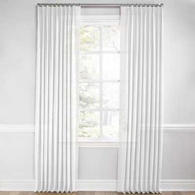 Euro Pleat Drapery Linen Sheer - Optic White - Loom Decor