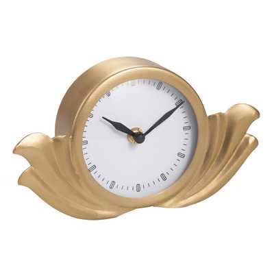 Brass Art Deco Clock - World Market/Cost Plus