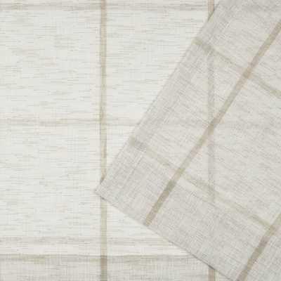 Rubin Linen Plaid Sheer Single Curtain Panel - Wayfair