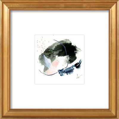 """#4 - Gold Leaf Wood Frame, 14"""" x 14"""" - Artfully Walls"""