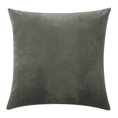 """Velvet Pillow Cover, 22"""" X 22"""", charcoal - Williams Sonoma"""