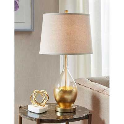 GOLD DROP GLASS TABLE LAMP - Shades of Light