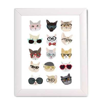'Cats with Glasses' by Hanna Melin Framed Graphic Art - Wayfair