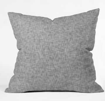 LINEN GREY LIGHT Throw Pillow - Wander Print Co.