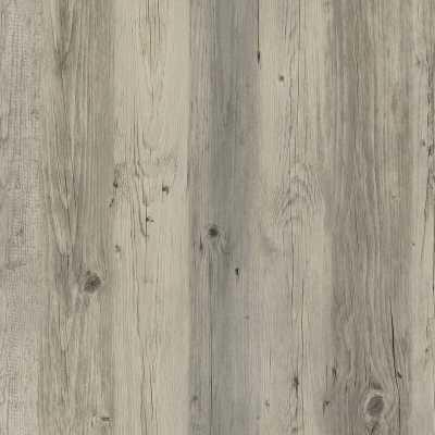 "Harbor Wood Light Gray 5"" W x 48"" L Peel and Stick Vinyl Wall Paneling - Wayfair"
