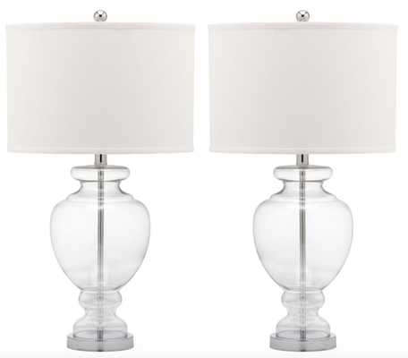 CLEAR GLASS TABLE LAMP / Set of 2 - Arlo Home