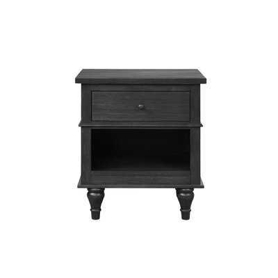 Pinero 1 - Drawer Nightstand in Charcoal - Wayfair