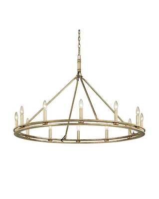 SUTTON CHANDELIER - Champagne Silver Leaf - Large - McGee & Co.