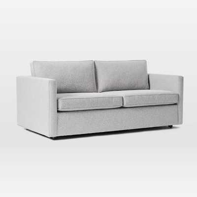 Harris Sleeper Sofa, Poly, Chenille Tweed, Frost Gray, Concealed Supports - West Elm