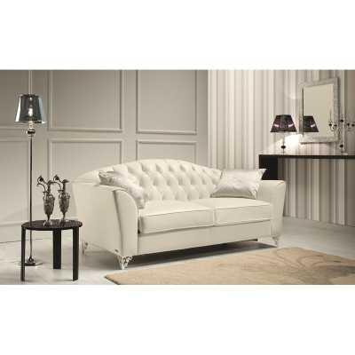 Minerva Leather Loveseat- Sofa size - Wayfair