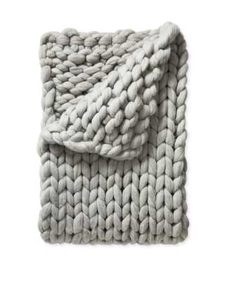 Henley Wool Throw - Heathered Grey - Serena and Lily