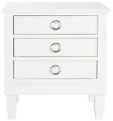 KIRA THREE DRAWER NIGHT STAND FOX6276A - Arlo Home