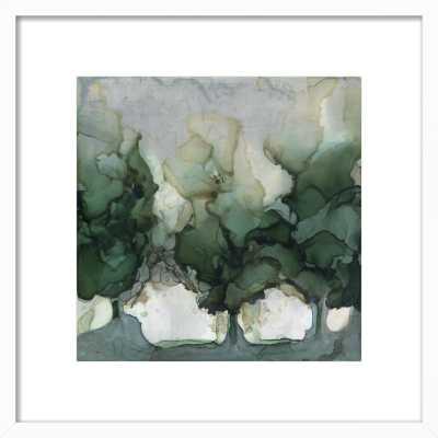 "River Trees 16"" x 16"" white wood frame - Artfully Walls"