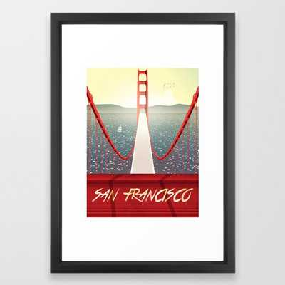 Golden Gate San Francisco Bridge Poster - Vector Black - Society6