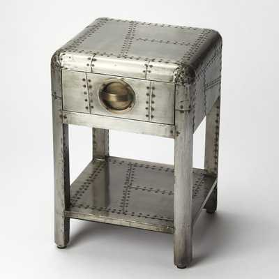 Butler Yeager Aviator Accent Table with Drawer - Hayneedle