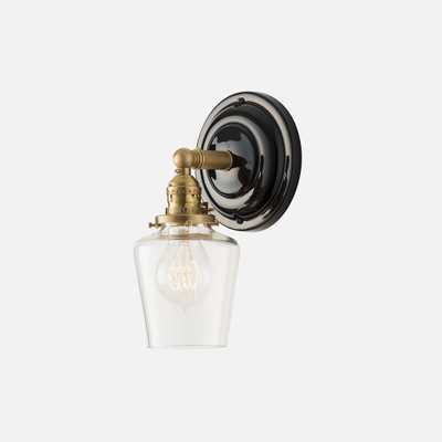 """Sage Sconce 2.25"""" - Natural Brass/Black - Schoolhouse Electric"""