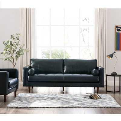 "Bickford Genuine Leather 89"" Square Arm Sofa - Wayfair"