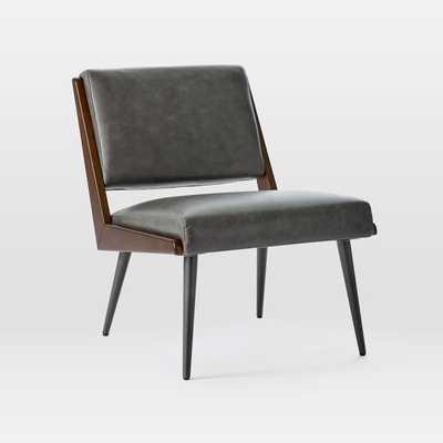Verona Leather Slipper Chair - West Elm