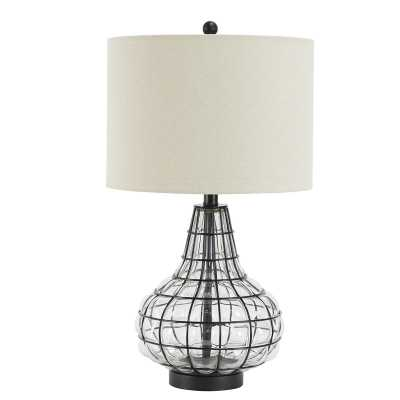 "Kiersten Tall Caged Glass 24.8"" Table Lamp - Wayfair"