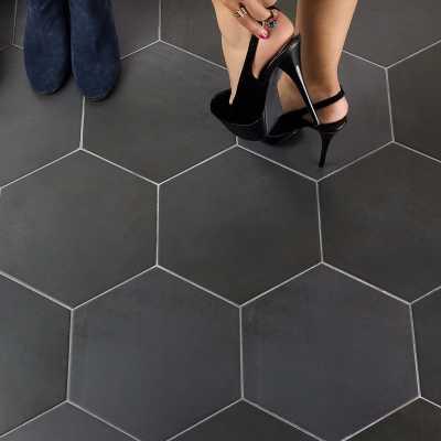 """Langston 10"""" x 11"""" Porcelain Concrete Look Wall & Floor Tile-$5.99/sq. ft.- per box - Wayfair"""