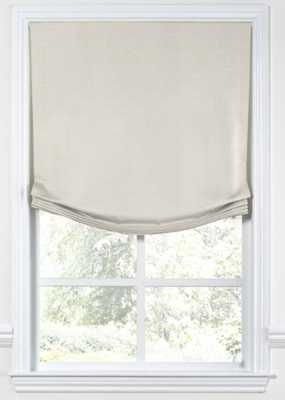 Relaxed Roman Shade  Classic Linen - Heathered flax - privacy lining - Loom Decor