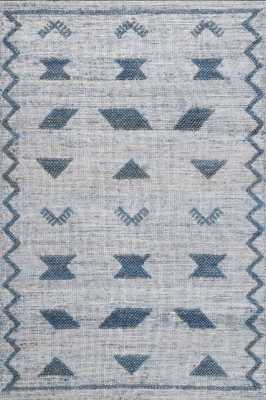 Loom 23 Flatwoven Aura Blue 7 ft. 6 in. x 9 ft. 6 in. Area Rug - Loom 23