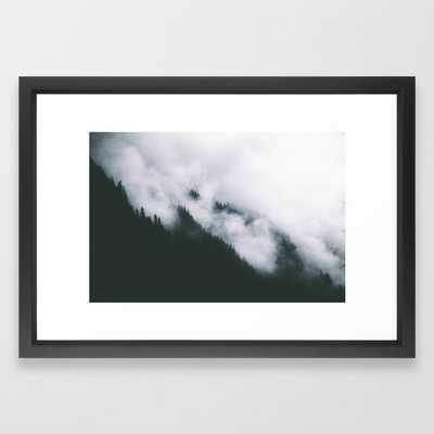 Forest Fog XIII Framed Art Print - Society6
