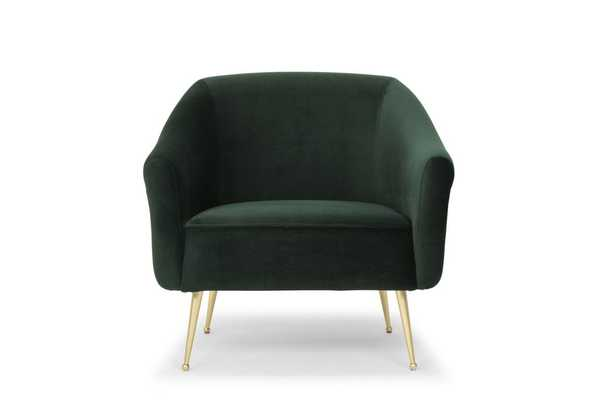 Lucie Occasional Chair in Emerald Green design by Nuevo - Burke Decor