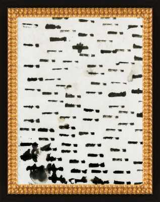 Wabi - Sabi - 16-01: Flat Black Double Bead Wood, 16x20 - Artfully Walls