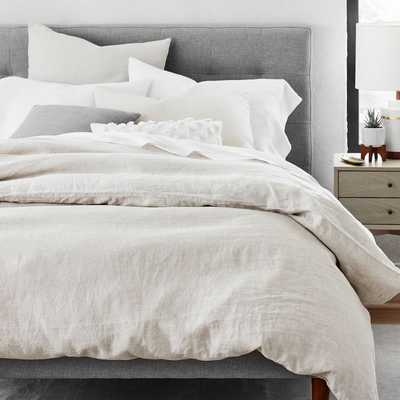 European Flax Linen Duvet Cover and sham set, King/Cal King, Natural Flax - West Elm