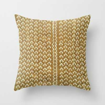 mustard croc/snakeskin mudcloth Throw Pillow with insert - Society6