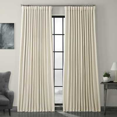 "Waubun Faux Linen Extra Wide Solid Color Blackout Rod Pocket Single Curtain Panel - 84"" L x 100"" W - Wayfair"