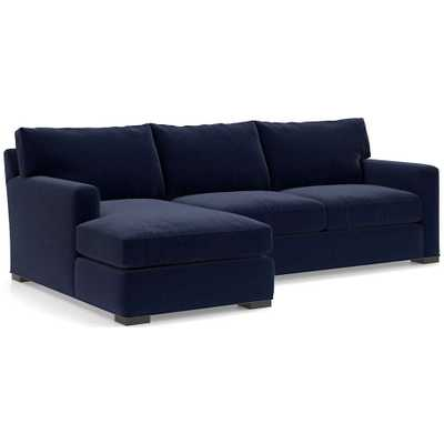 Axis II 2-Piece Sectional Sofa- NAVY - Crate and Barrel