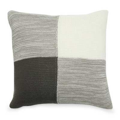MoDRN Industrial Colorblock Knit Decorative Pillow - Hayneedle