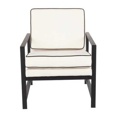 Copper Grove Tryavna Upholstered Armchair with Metal Frame - N/A - Cream/Black - Overstock