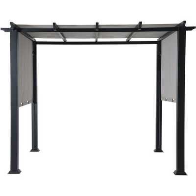 Ripon 10 Ft. W x 8 Ft. D Steel Pergola with Canopy - Wayfair