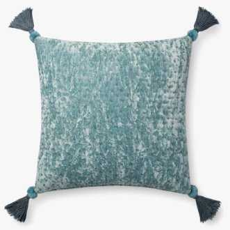 P0663 Blue / Grey Pillow with Poly Insert - Loma Threads