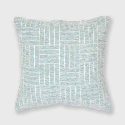 Staggered Striped Chenille Woven Jacquard Throw Pillow - freshmint - Wayfair