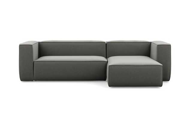 Gray Sectional with Heather Performance Felt, Right Chaise - Interior Define