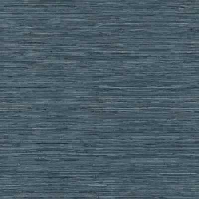 RoomMates 28.18 sq. ft. Grasscloth Blue Peel and Stick Wallpaper - Home Depot