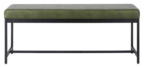 Chase Faux Leather Bench - Dark Green - Arlo Home - Arlo Home