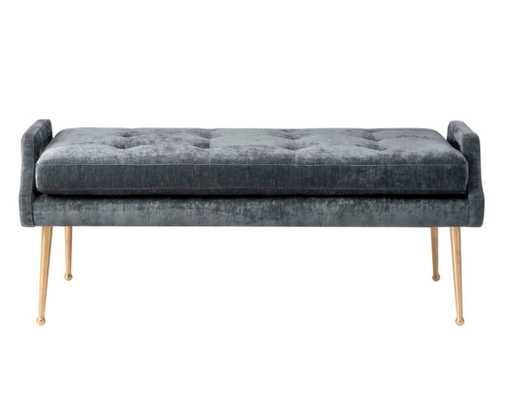 Eliza Morgan Slub Velvet Bench - Maren Home
