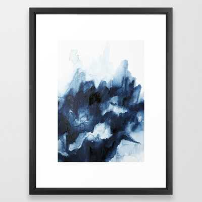Indigo watercolor 2 Framed Art Print - Society6