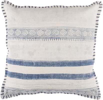 """Lola 20"""" x 20""""  Pillow Shell with Down Insert - Neva Home"""