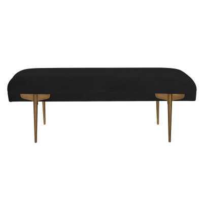 Sadie Upholstered Bench, Black - AllModern