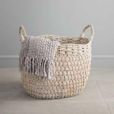 Oversized Seagrass Basket, Whitewashed - West Elm