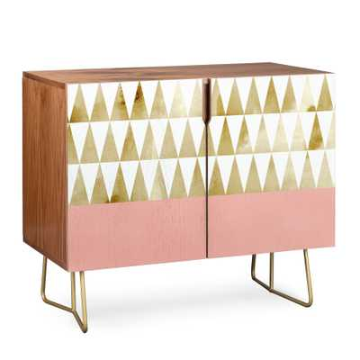 GOLD TRIANGLES Credenza - Wander Print Co.